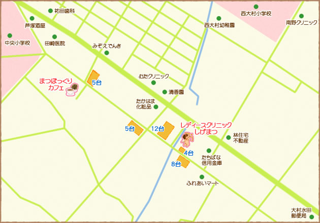 駐車場つき地図